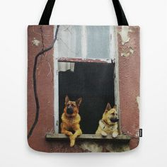 dog's voyeur Tote Bag by dissabtes - $22.00