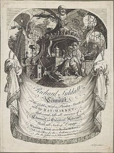 Image result for trade cards coffee houses 18th century