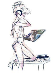 2020 ideas for antenna technology headphone drawing Vinyl Record Art, Vinyl Music, Vintage Vinyl Records, Vinyl Art, Dj Headphones, Music Drawings, Vinyl Junkies, Music Images, Music Gifts