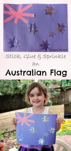 Easy Australian flag craft for kids - perfect for kids learning about Australia or Australia Day