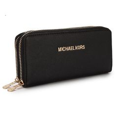 Michael Kors New Advanced Large Black Wallet