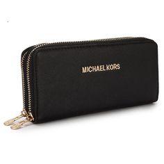 Michael Kors New Advanced Large Black Wallet