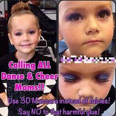Do you have a little performer in your life? Many times our young performers have to wear makeup when they are on stage. This includes false eyelashes. If you've applied false eyelashes on a young girl, you know the struggle.   Replace those false eyelashes with Younique's 3D Fiber Lash Mascara. No harmful chemicals, won't come off mid-performance, and it removes easily. What's not to love! http://AngelWingLashes.com