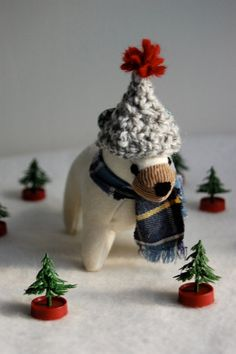 Winter BearSALE by sian on Etsy, $40.00