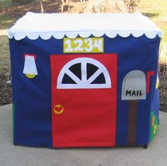 Card table playhouse - I can make this!