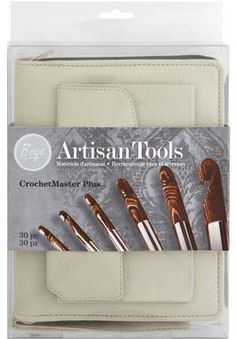 "Crochet Master Plus ~ Boye ""Artisan Tools"" CrochetMaster Plus set. Kit includes: F-Q   I just L♥VE the thought of ""Artisan Tools"" ~ #thecrochetdude"