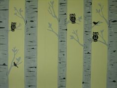 Baby room ideas. I painted my sons room owl and bird themed. Did burch trees on old paneling. Worked out perfectly if looking for paneling ideas.