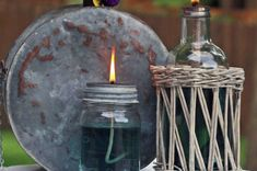 It's surprisingly easy to create your own oil lamp out of a mason jar.