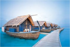 Cocoa Island Resort - Maldives (who needs an over the water bungalow when you can sleep in a boat!!)