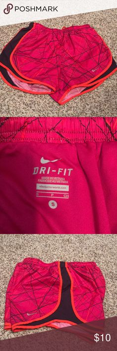 Pink Nike running shorts Pink with accents of orange and dark purple. Nike tempo running shorts Nike Other
