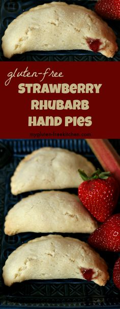 Gluten-free Strawberry Rhubarb Hand Pies Recipe. These are so yummy and fun!