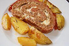 Mediterraner Hackbraten mit Oregano - Kartoffeln (Rezept mit Bild) | Chefkoch.de