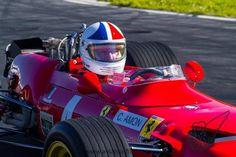 F1 Chris Amon in the Ferrari.