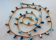 Dancing in the Sunshine Versatile crocheted necklace by FleasKnees, $15.00