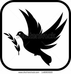 Dove of peace flying vector - stock vector