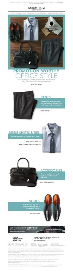Nordstrom - Wear This to Work: Style for Board Meetings or Casual Fridays - email newsletter emailing marketing