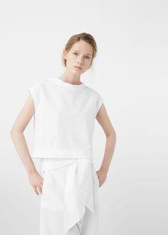 Premium - top popeline - Camisas de Mulher | MANGO Portugal