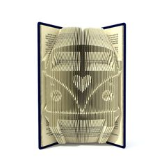 The book folding pattern allows the folder to create this unique Camper van with heart pattern to be in the book. All my book patterns are measure and mark patterns in mm. Its very simple to create. The end result is so impressive to look at as well as looks great in any place of