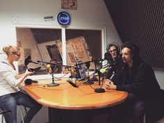 We Are Match doing a radio interview for Radio Campus