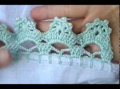 Znalezione obrazy dla zapytania borboleta de croche para pano de prato com grafico Crochet Lace Edging, Crochet Borders, Crochet Trim, Crochet Stitches, Knit Crochet, Crochet Hats, Crochet Designs, Crochet Patterns, Pinterest Crochet