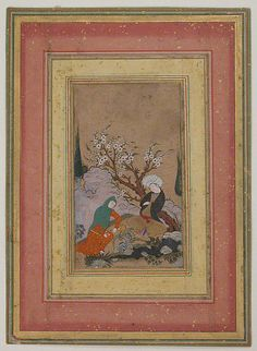 Love Scene, late 16th–early 17th century. Iran. The Metropolitan Museum of Art, New York. Gift of George D. Pratt, 1925 (25.83.4)