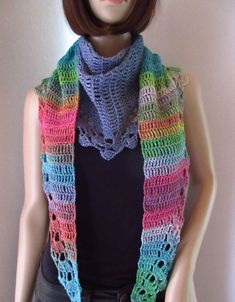 Crochet, Fashion, Scarf Crochet, Knitting And Crocheting, Colors, Patterns, Moda, Fashion Styles