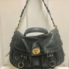 Coach 1941 Coach - Black Turnlock Handbag Satchel. Save 76% on the Coach 1941 Coach - Black Turnlock Handbag Satchel! This satchel is a top 10 member favorite on Tradesy. See how much you can save