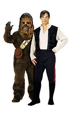 Chewbacca and Han Solo Star Wars Couples Costumes
