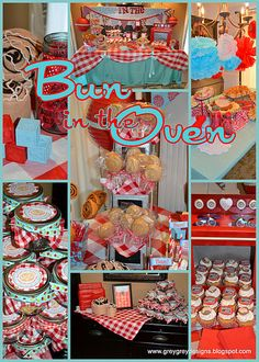 """""""Bun in the oven"""" baby shower. Such a cute idea! This would work well when keeping the gender a surprise.COM~ the only hat guaranteed to fit and stay snug to all newborns! Boy Shower, Shower Party, Baby Shower Parties, Baby Shower Gifts, Baby Gifts, Baby Party, I Party, Party Time, Party Favors"""
