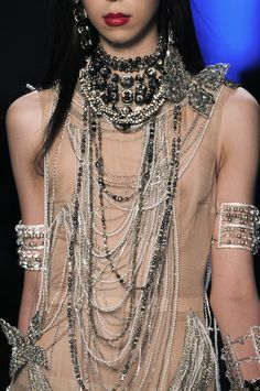 Detail at Jean Paul Gaultier Couture Spring Summer 2014