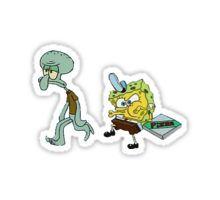 Spongebob pizza Sticker