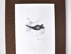 Cat With Mask No.1 Small Print A5 Size