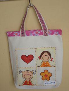 https://flic.kr/p/bo92de | Tote Bag - Bolsa 0001 A F | Tote bag confeccionada em Lona e forrada com tecido 100% algodão . Pintada .  Medidas: 40x37x8 cm