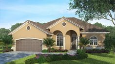 Home Plan HOMEPW75168 - 1872 Square Foot, 3 Bedroom 2 Bathroom + Mediterranean Modern Homes Home with 2 Garage Bays | Homeplans.com
