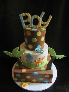 Jungle Baby Shower Cake! By JPMitchell on CakeCentral.com