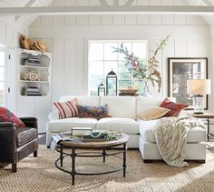 Parquet Reclaimed Wood Round Coffee Table #potterybarn