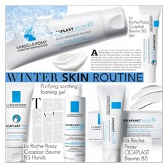 """""""Cold Weather Beauty Routine"""" by martso ❤ liked on Polyvore featuring beauty, La Roche-Posay, Winter, contestentry, beautyset and burrrbeauty"""