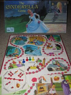 Vintage 1988 Cadaco Cinderella Game Complete by EcoBling on Etsy, $14.99 They have a Cinderella game?! I never knew that!