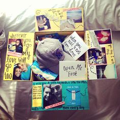 Taste of Home Care Package : The last care package for his deployment! I put things from California (Where we're both from) and Tennessee (Where we're both living). A Baseball Hat from my college, notes from home, his favorite snacks, items that remind him of things we did together, and movies we've watched together.