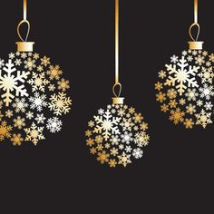 Golden Christmas Balls Vector Graphics