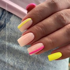 Summer Acrylic Nails, Best Acrylic Nails, Summer Nails, Unhas Monster Energy, Belle Nails, May Nails, Acylic Nails, Classic Nails, Fire Nails