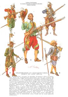 17th century musketeers and arquebusiers