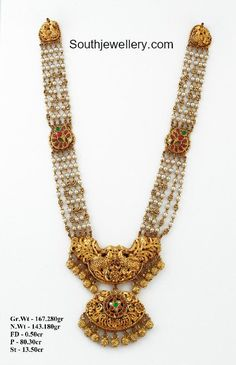 22 carat gold antique pearls haram with peacock pendant by Krishna Jewellers, Pearls Bridal Jewelry, Beaded Jewelry, Silver Jewelry, Silver Ring, Resin Jewellery, Bridal Necklace, Silver Bracelets, Pearl Jewelry, Pendant Jewelry