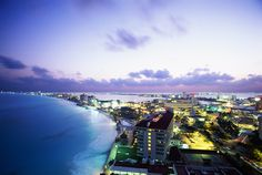 The city comes to life at night in #Cancun #pickyourparadise