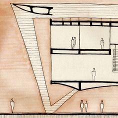Museu de Arte Moderna do Rio de Janeiro (1953) |  Architect: Affonso Eduardo Reidy. | Croquis de la Estructura