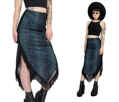 Hey, I found this really awesome Etsy listing at https://www.etsy.com/listing/257410276/vintage-90s-grunge-skirt-fringed-mesh