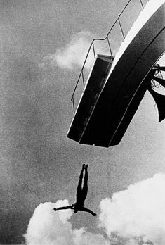 Diver off diving board - Rodchenko