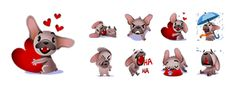 Facebook Wink Mugsy Stickers | Mugsy Facebook Stickers