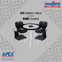 Stylish TS20 dining #table with Bloom #chairs from Swagath's APEX range of #furniture is the ideal combination to give a royal look to your dining room!!