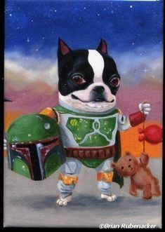 Boston Terrier Boba Terrier Magnet by rubenacker on Etsy, $4.75